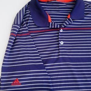 Adidas Golf Polo MEN'S Large Blue climalite